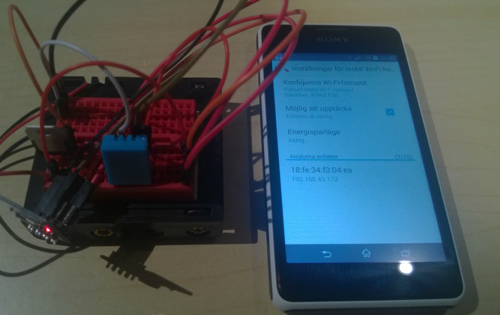 "ESP8266 och Thingspeak 100% ""Mobilt"""