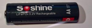 LiFePO4 AA batteri på 3.2V uppladdningsbart.