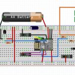 ESP826612E med LiFePO4 batteri och solcell