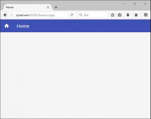 testade nu basic UI, vilket inte gav mycket till resultat..