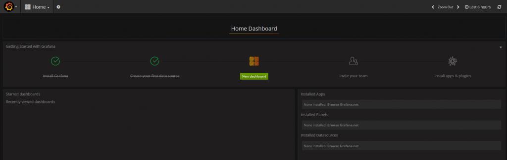 """Ange nu att du vill skapa en """"New dashboard"""""""