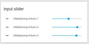 """Tre st """"input sliders"""" som går att nyttja till avancerade events"""