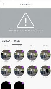 Under tiden jag testade Somfy One hade jag problem att vissa videoklipp inte kunde spelas upp.