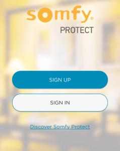 All hantering av Somfy One sker genom appen Somfy Protect.