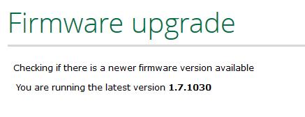 VeraLite uppdaterades utan problem