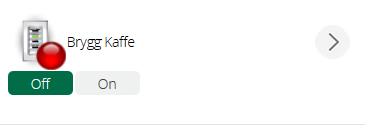 Döpte knappen till Brygg kaffe. Den måste vara on för att schemaläggningen ska starta varje dag klockan 06.00