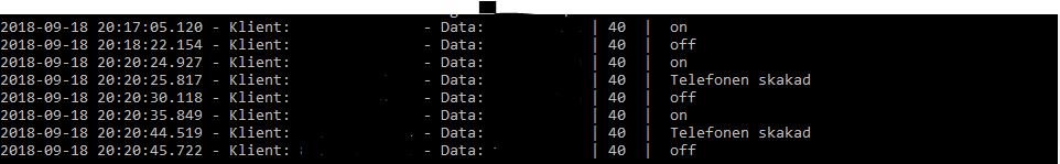 HTTP Loggning