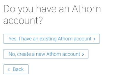För att köra Homey så behöver du registrera ett konto