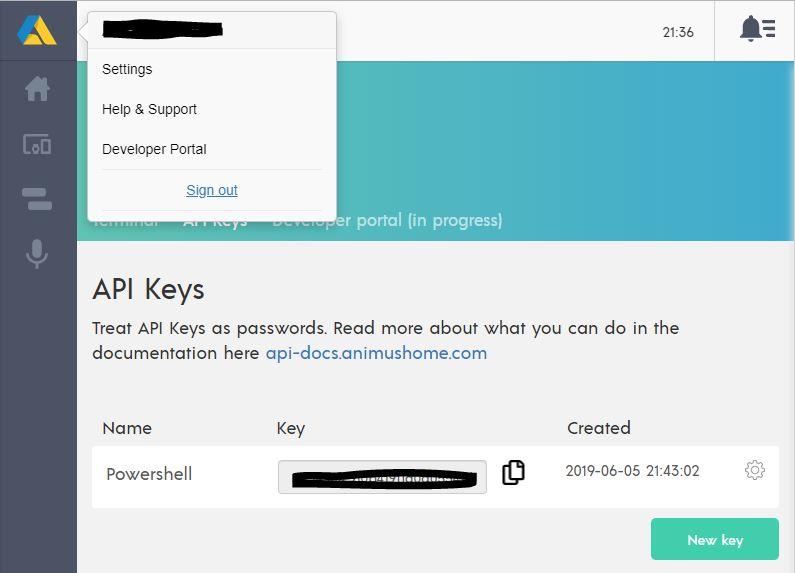 Hämta ut din API nyckel