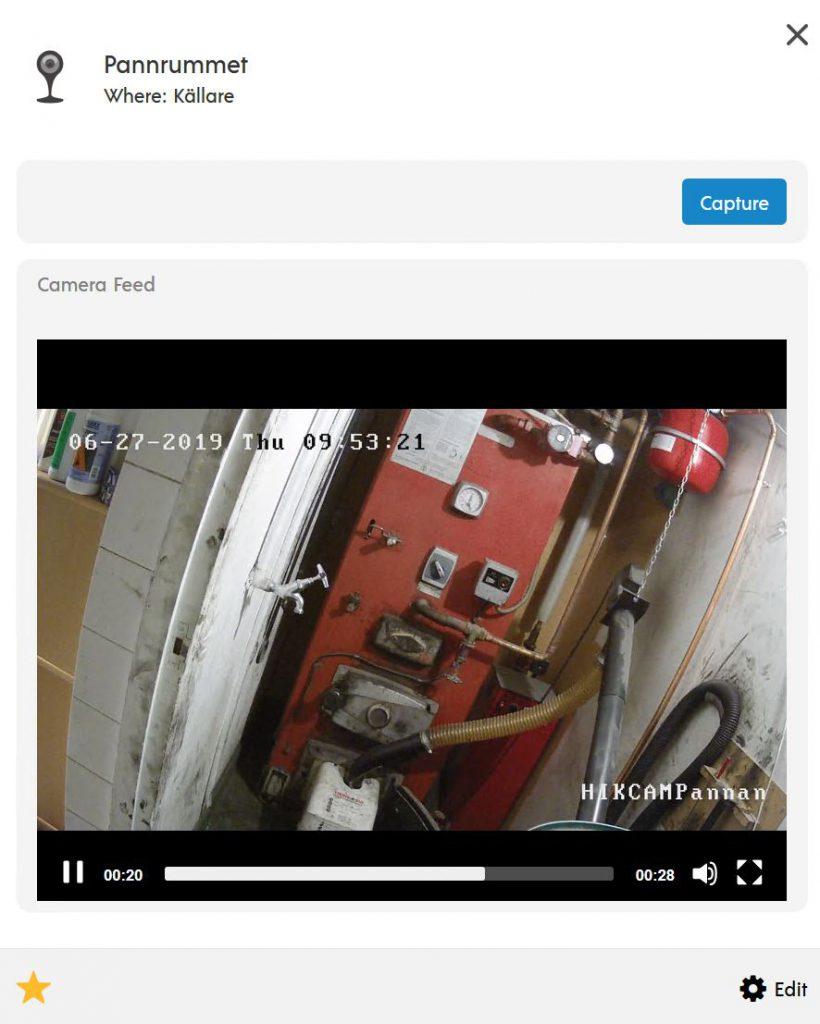Hikvision kamera med Animus Heart