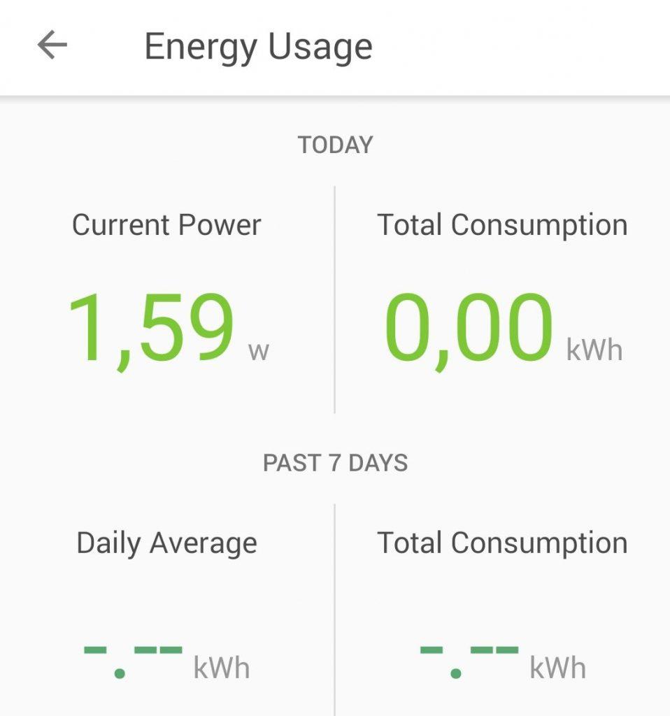 Så många watt drar google home mini