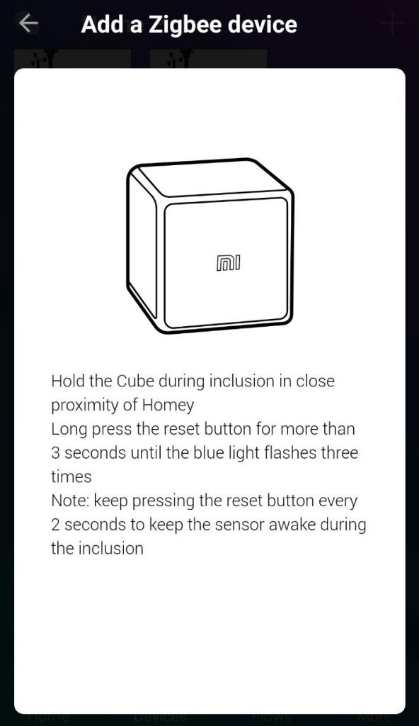 Inkludera Xiaomi Aqara cube i Homey