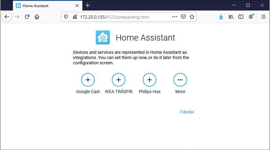 Home Assistant hittar automatiskt enheter på samma nätverk