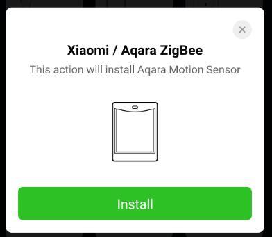 Välj Xiaomi Aqra motion sensor