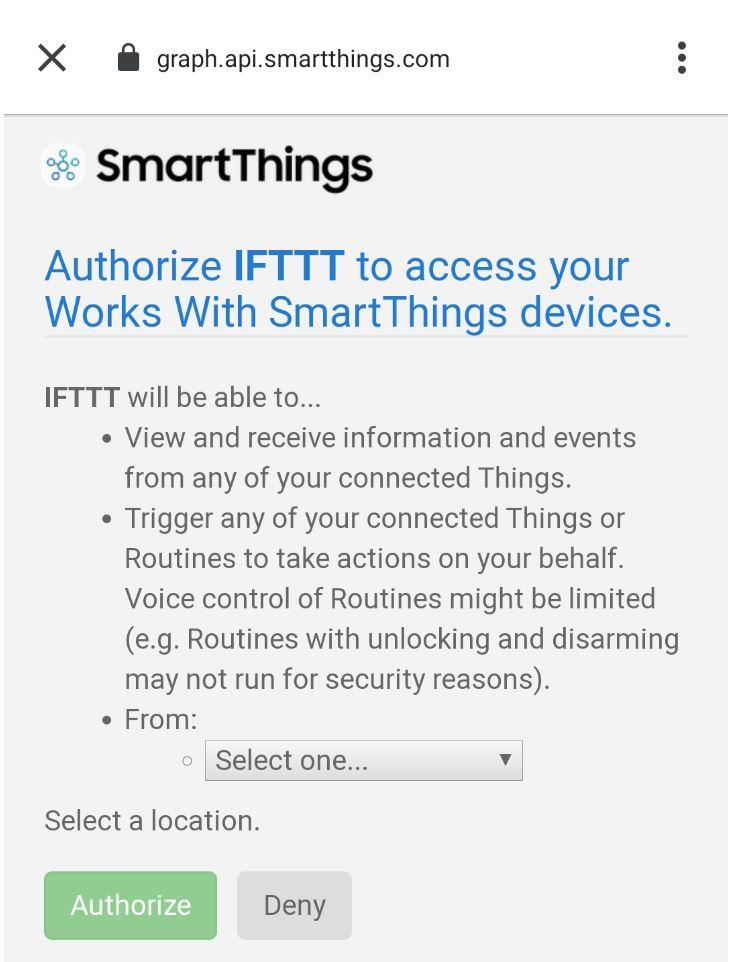 Samsung SmartThings med IFTTT