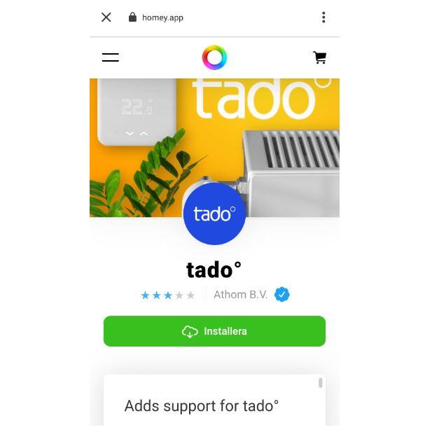 Tado i Homey